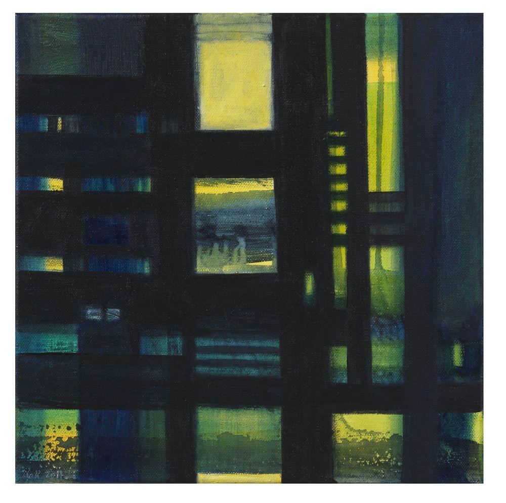 Raumblick 1, Acryl , 30 x 30 cm